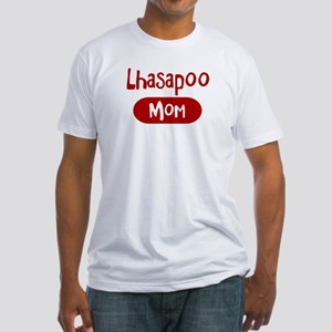 Lhasapoo mom Fitted T-Shirt