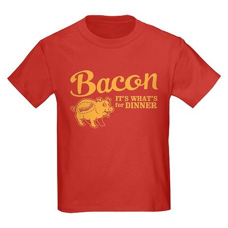 bacon it's what's for dinner Kids Dark T-Shirt