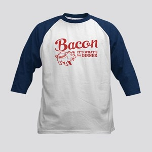 bacon it's what's for dinner Kids Baseball Jersey