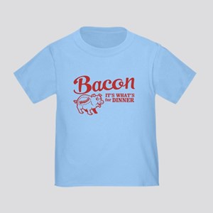 bacon it's what's for dinner Toddler T-Shir