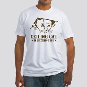 ceiling cat is watching you Fitted T-Shirt