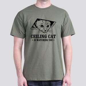 ceiling cat is watching you Dark T-Shirt