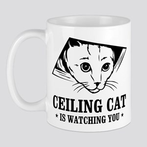 ceiling cat is watching you Mug