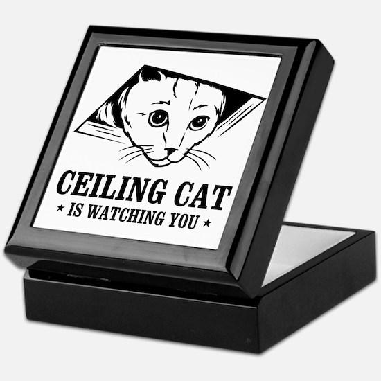 ceiling cat is watching you Keepsake Box