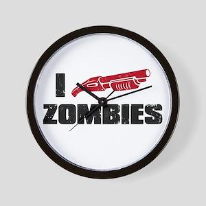 i shotgun zombies Wall Clock