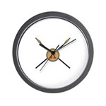 Spartan shield and spears Wall Clock