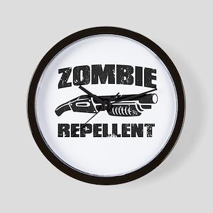 shotgun zombie repellent Wall Clock