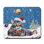 Christmas Maine Coon Cat Mousepad