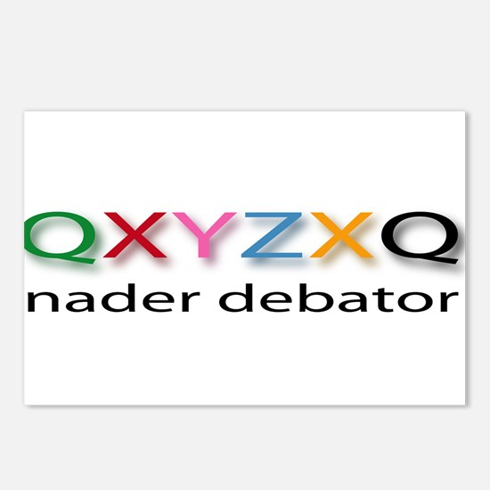 Nader Debater QXYZXQ Postcards (Package of 8)