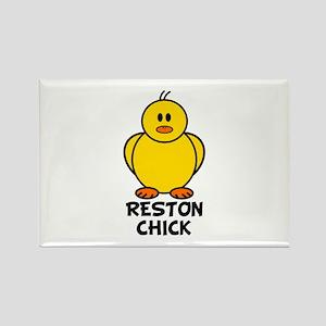 Reston Chick Rectangle Magnet