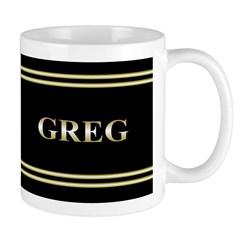 Personalized Metallic Gold Ceramic Mug Mugs