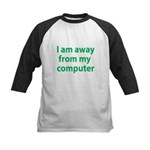 Away From Computer Kids Baseball Jersey