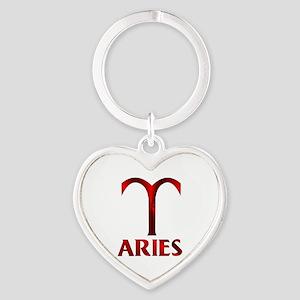 Red Aries Symbol Keychains