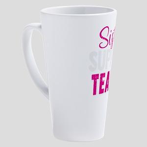 Sister Support Team Breast Cancer 17 oz Latte Mug