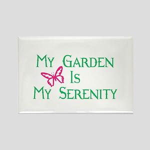 Serenity Garden Rectangle Magnet
