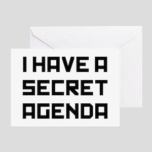 I Secret Agenda Greeting Card