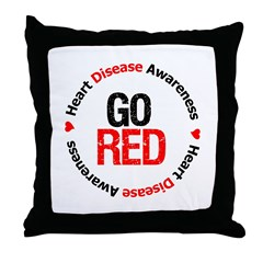 Heart Disease Go Red Throw Pillow