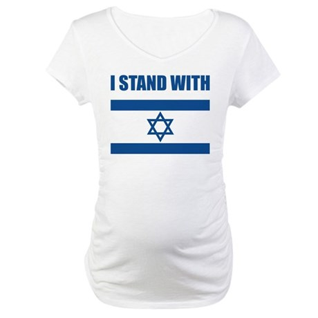 I Stand With Israel Maternity T-Shirt