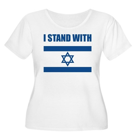I Stand With Israel Women's Plus Size Scoop Neck T