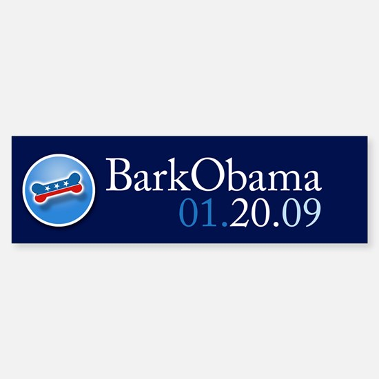 Bark Obama Inauguration Date bumper sticker