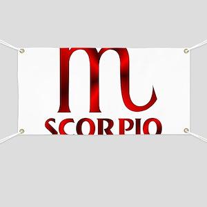 Red Scorpio Symbol Banner