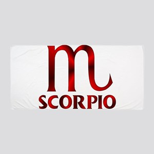Red Scorpio Symbol Beach Towel
