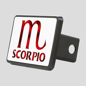 Red Scorpio Symbol Rectangular Hitch Cover