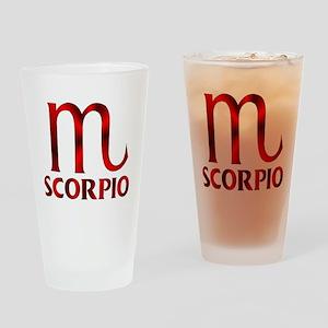 Red Scorpio Symbol Drinking Glass
