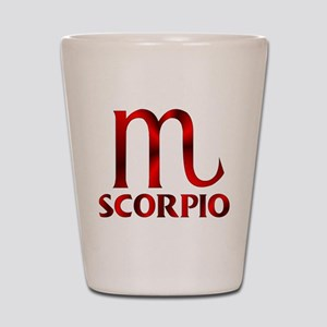 Red Scorpio Symbol Shot Glass