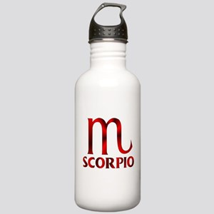 Red Scorpio Symbol Stainless Water Bottle 1.0L