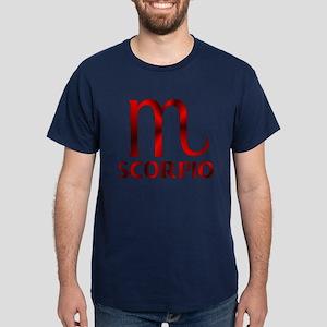 Red Scorpio Symbol Dark T-Shirt
