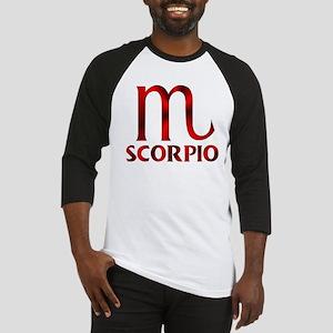 Red Scorpio Symbol Baseball Tee