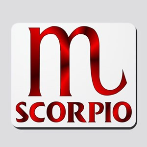 Red Scorpio Symbol Mousepad