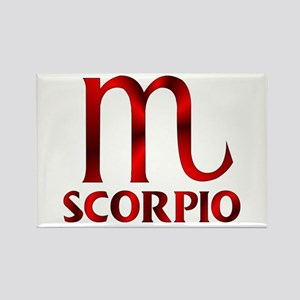 Red Scorpio Symbol Rectangle Magnet