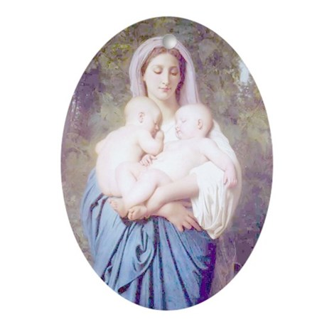CHARITY (1859) Oval Ornament