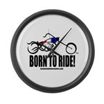 Born To Ride! Large Wall Clock