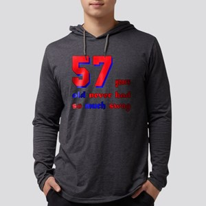 57 years old never had so much s Mens Hooded Shirt