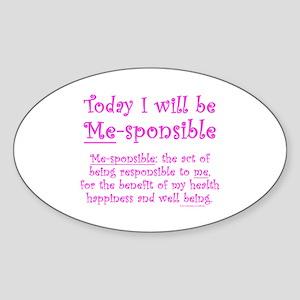 Me-sponsible Sticker (Oval)