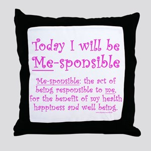 Me-sponsible Throw Pillow
