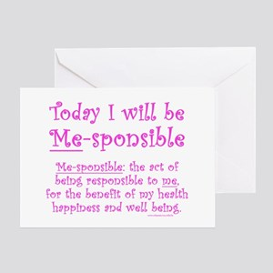 Weight loss motivation greeting cards cafepress me sponsible greeting card m4hsunfo