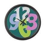 Big Number Clock 1 Large Wall Clock