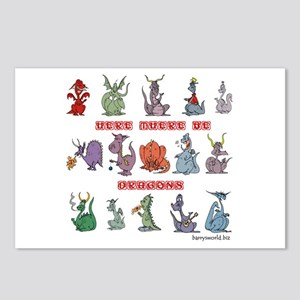 Dragons Postcards (Package of 8)