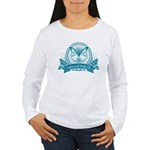 Antisocial Butterfly (Blue) Long Sleeve T-Shirt