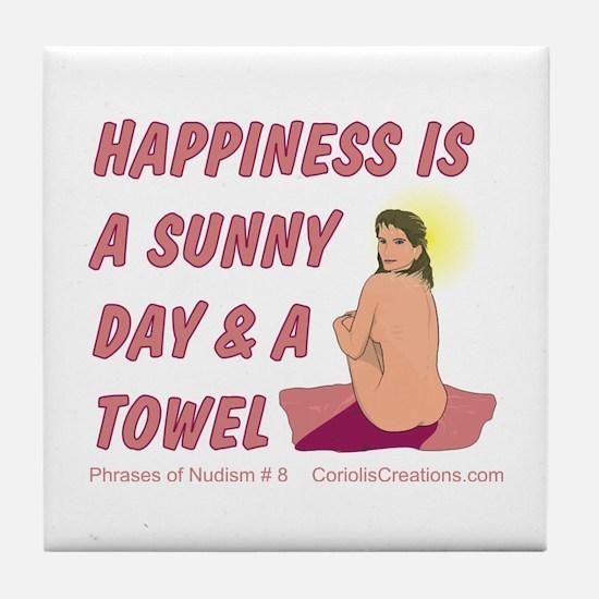 Sun & Towel - Tile Coaster