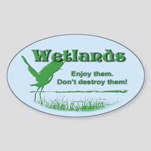 Wetland Oval Sticker