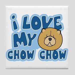 I Love my Chow Chow Tile Coaster (Cartoon)