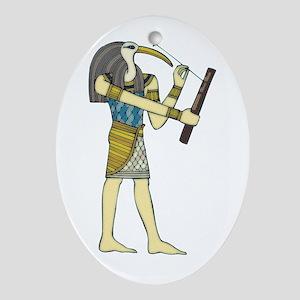 God Thoth Oval Ornament
