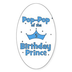 Pop-pop of the 5th Birthday P Oval Decal
