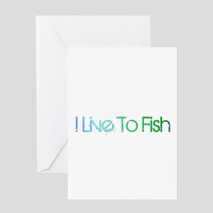 I Live To Fish Greeting Card