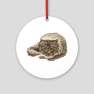 Persian Cat Ornament (Round)